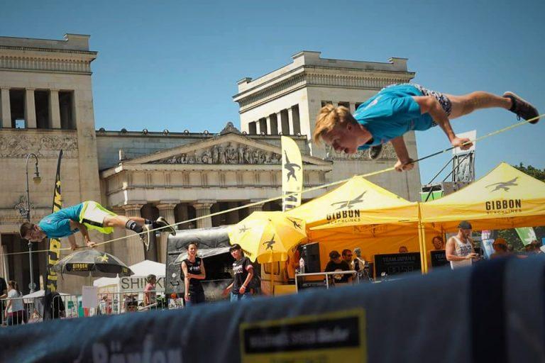 Duo Slackline Performance Munich